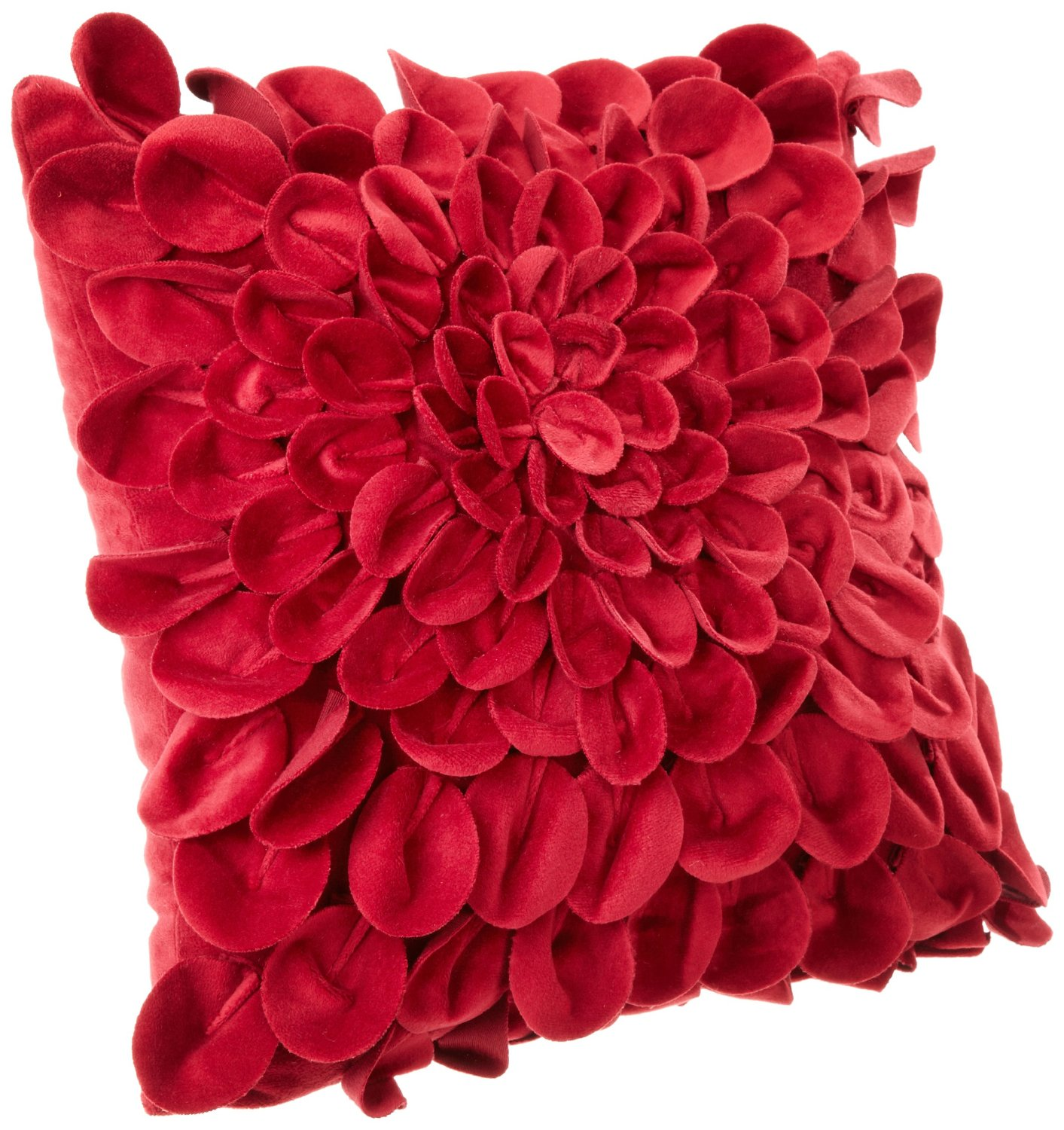 red petal throw pillow buy