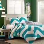 chevron bedding bedroom interior