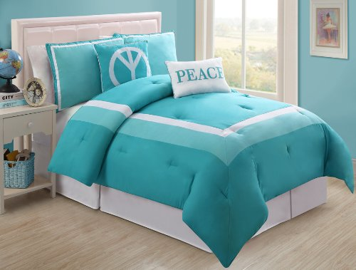 turquoise teens bedding
