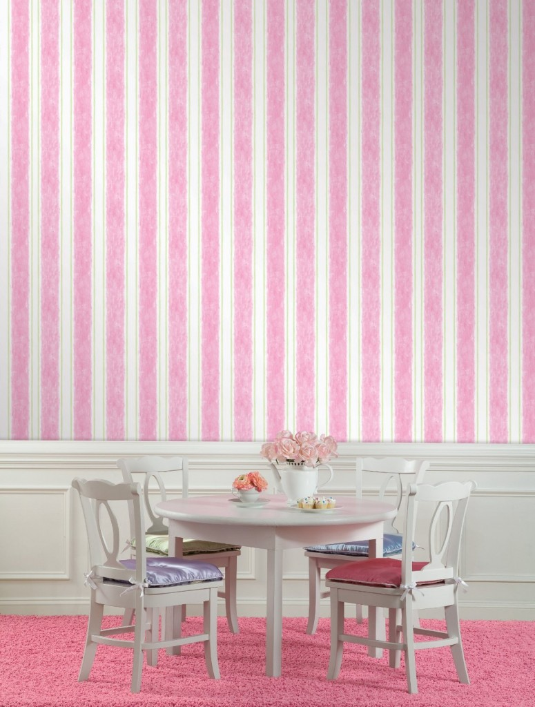 White archives panda 39 s house 108 interior decorating ideas - Pink and white striped wallpaper bedroom ...