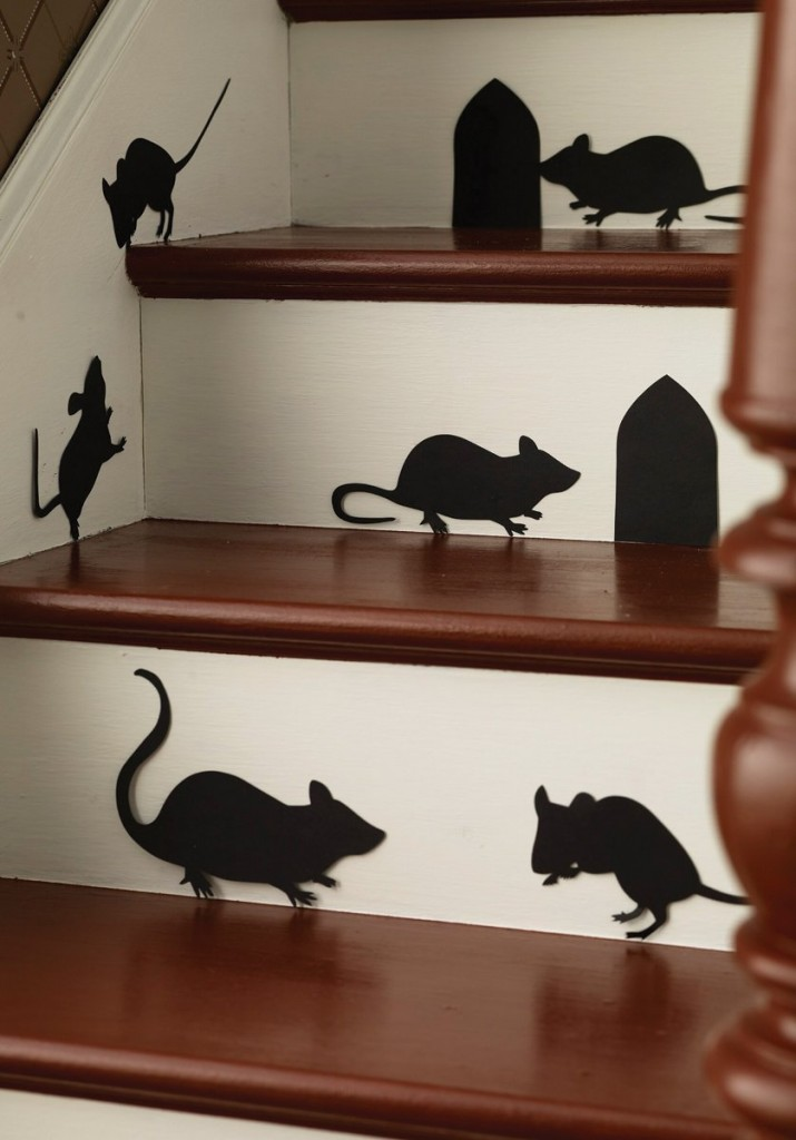 Mice Silhouettes halloween decoration