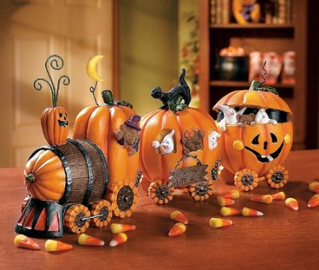 pumpkin experess train kitchen decoration halloween