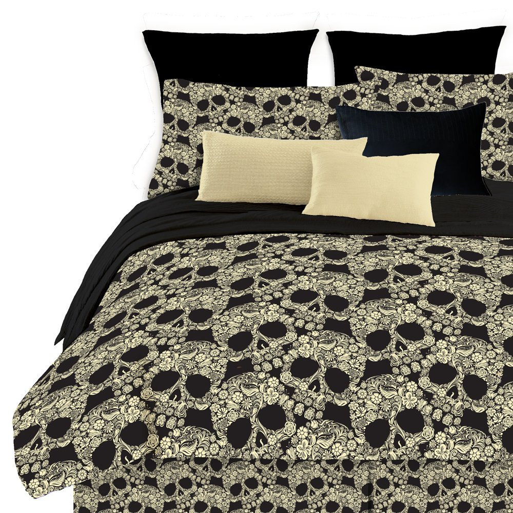 Veratex Flower Skull Comforter Set, Multi