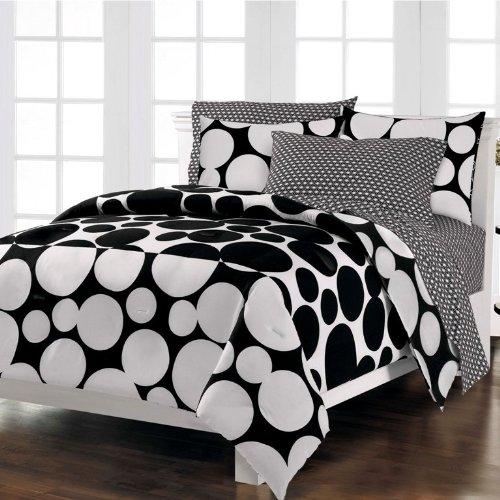 dots black white bedding online