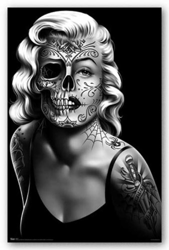 poster skull girl