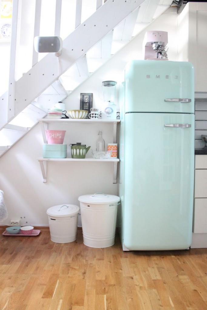 smeg fridge mint