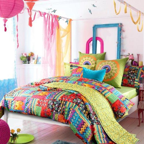 colorful boho bedding