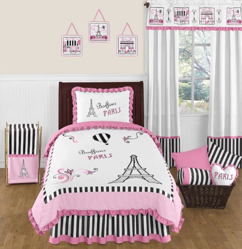 ds Twin French Eiffel Tower Bedding Set Collection