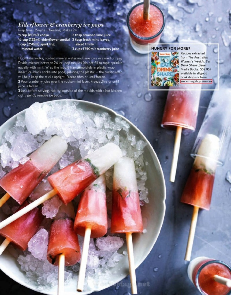Elderflower & Cranberry Ice Pops