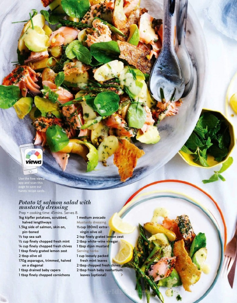 Potato & Salmon Salad with Mustardy Dressing
