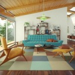 teal sofa yellow chair interior decorating living room