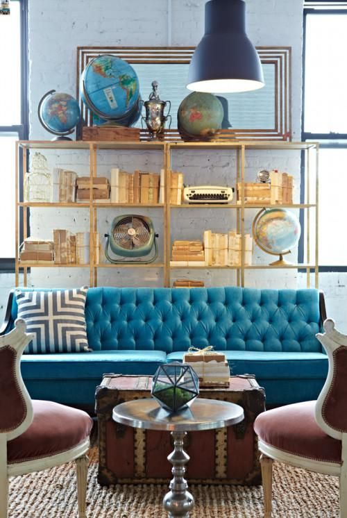 Living Room Decorating Ideas - A Teal Chair - Panda's House