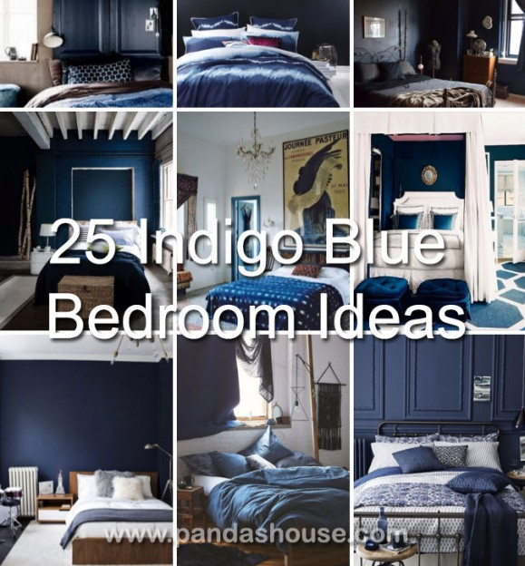 25 Amazing Indigo Blue Bedroom Ideas