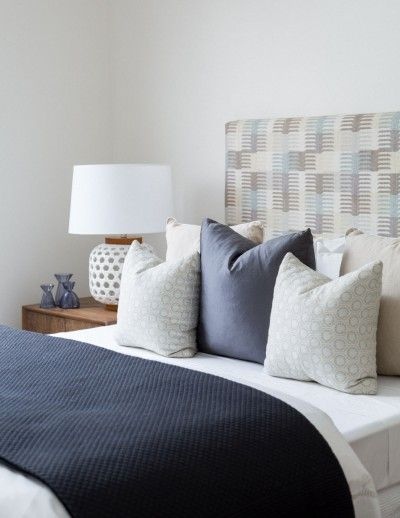 Coco Republic Property Styling - indigo bedroom