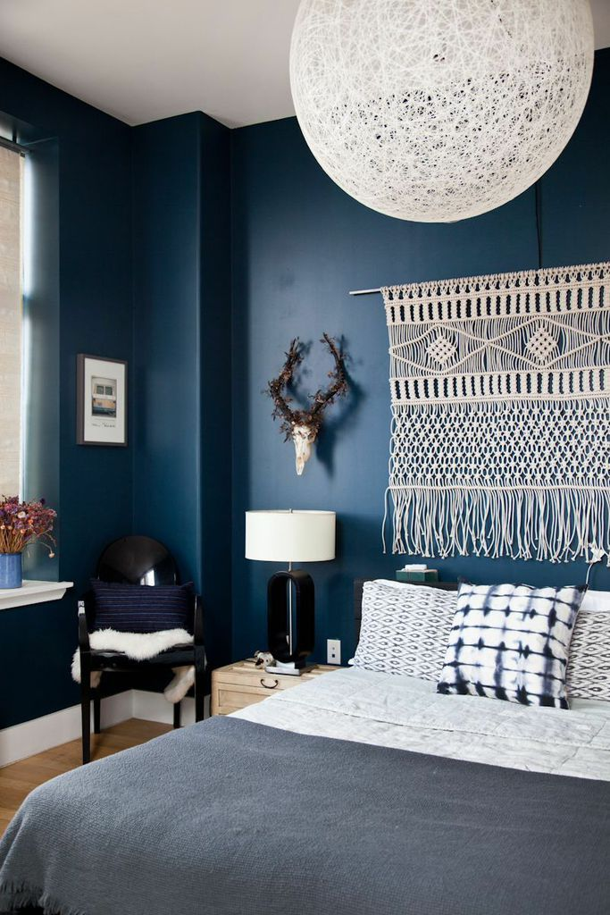 25 Amazing Indigo Blue Bedroom Ideas - Panda\'s House