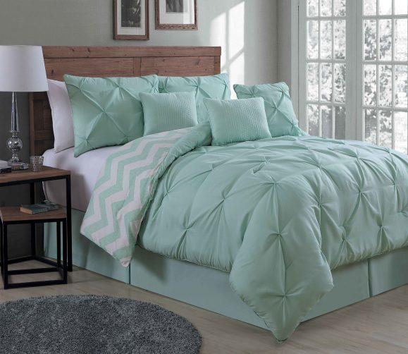 Avondale Manor Ella 7 Piece Comforter Set, Queen, Mint