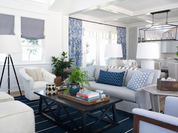 Coastal living with white walls