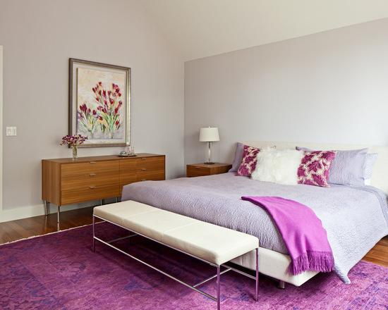 contemporary purple bedroom