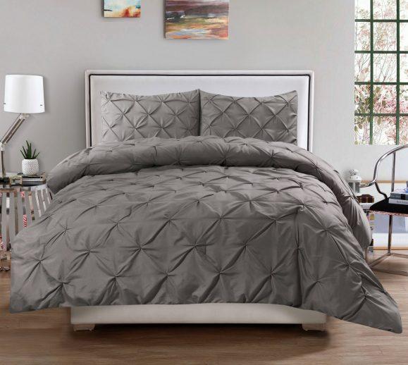 gray comforter