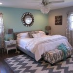 mint and gray bedroom