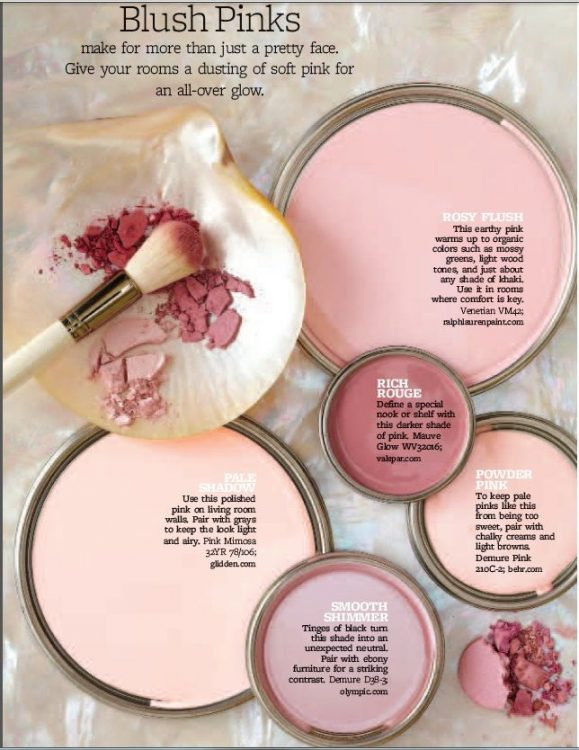 Pink Paint Color Scheme: Blush Pinks